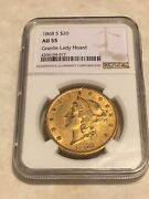 1868-s 20 Ngc Au55 Liberty Double Eagle Gold Coin Granite Lady Hoard No Pcgs