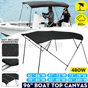 Boat Pontoon 3 Bow / 4 Bow Bimini Top Replacement Canvas Cover No Frame 600d Us