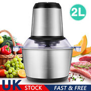 2l Multi Electric Food Processor Meat Vegetable Nut Chopper Stainless Steel Bowl