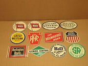 12 Vintage Post Cereal Small Tin Railroad Signs Giveaway Boxes 1950and039s