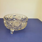 1920and039s Mckee Beacon Innovation Footed 7 1/4 In Glass Bowl Free Shipping