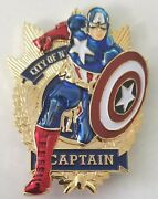 Nypd Nyc Police Captain America Marvel Comics Challenge Coin