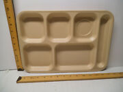 Vintage Lot 6 Dallas Ware School Cafeteria Tan Lunch Tray Divided Made Texas Usa