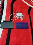 Nintendo 3ds Midnight Purple Gaming Console - With Charger And Base 2gb Sd Card