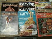 Woodcarving Magazines Lot Of 8 Handcarved And Wood Carving