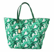 Dolce And Gabbana Bag Womenand039s Green Banana Leaves Beatrice Shopping Hand Tote