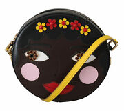 Dolce And Gabbana Bag Womenand039s Glam Round Brown Bambola African Crystal Crossbody