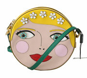 Dolce And Gabbana Bag Womenand039s Glam Round Yellow Bambola Russia Crystal Crossbody