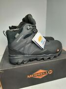 Merrell Menand039s Thermo Adventure Ice+ Wp Work Boots Black Size 8.5