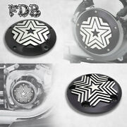 Fit H-d Moving Star Contrast Cut Timer And Derby Cover Touring Softail Dyna Trike