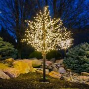 Outdoor Yard Displays Summer Christmas Linden Tree Led Lighted Lawn Decoration