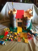 Vintage Fisher Price Little People Play Family Castle With Pieces 993 1974