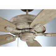 Farmhouse Ceiling Fan With Pull Chain Low Profile Rustic Wood Blades Grey 52