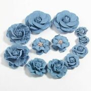 120pcs Denim Fabric Flower For Baby Girls Hair Accessories Boutique For Headband