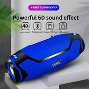 40w Wireless Bluetooth Speakers Portable Outdoor Column Stereo Subwoofer For Pc