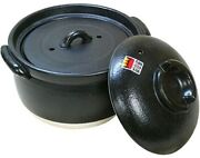 [fluffy Rice Pot] 3 Go Cooked Double Lid Yokkaichi Banko Ware Made In Japan [