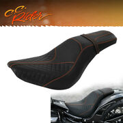Driver Passenger Seat Fit For Harley Softail Deluxe Flde Heritage Classic 18-21