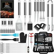 35pcs Bbq Grill Grilling Accessories Tools Set Barbecue Tool Sets With Thermomet