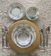 Noritake Fine China 87 Piece Dinnerware Set For 8 Includes Serving Pieces