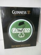 Guinness Beer Official Merchandise 11.5 Neon Wall Clock-new-free Shipping