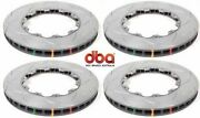 4 New 2012-21 Gtr R35 5000 T-slotted Replacement Front / Rear Disc Brakes Rotors