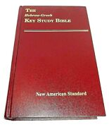 The Hebrew-greek Key Study Bible-new American Standard Version-1990 Red Letter