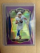 Justin Herbert 2020 Select Purple Premier Level Prizm /75 Chargers Rookie