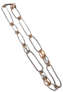 Long Necklace Alter Ego Metal Gold And Silver Art.b000796 - Dolman Bijoux