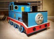 Retired Thomas The Train Tank Engine Large Wooden Bench Storage Bin Toy Chest