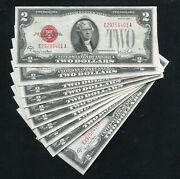 10consecutive 1928-g 2 Red Seal Legal Tender United States Notes Uncirculated