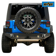 Eag Fits 07-18 Jeep Wrangler Jk Rear Bumper With Tire Carrier W/ Linkage