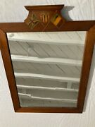 Antique Wwi Victory Mirror With Us French And British Flags. Vg To Excl Cond.