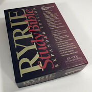 1994 Moody Ryrie Study Bible Niv 1984 Expanded Burgundy Bonded Leather In Box
