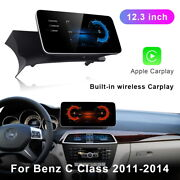 12.3 Android Fit For Mercedes Benz C Class W204 2011-2014 Radio Car Stereo Gps