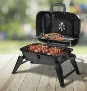 Outsunny Portable Outdoor Tabletop Charcoal Grill Black Compact Foldable Bbq