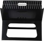 Premium Foldable Outdoor Tabletop Charcoal Barbecue X Grill Black