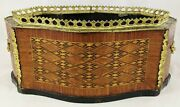 Antique French 19th C Napoleon Iii Marquetry Inlaid And Bronze Mounted Planter