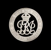 British Wound Badge For King And Empire Services Rendered Silver