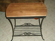 Longaberger Foundry Collection Wrought Iron Library End Table -usa