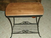 Longaberger Foundry Collection Wrought Iron Library End Table -usaeuc