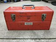Vintage Western Auto Tool Box Model 45-4880-6 Made In The Usa Wizard Rare