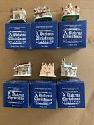 Set Of 6 1988 A Dickens Christmas Carol Holiday Village Houses