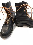 Drews Boots Black Rancher Smokejumper 10 Ee Very Clean 9 Tall