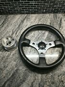 Gt Grant 0702 Aftermarket 3 Spoke Leather Steering Wheel13 With Horn And Hub