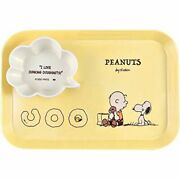 Peanuts Snoopy Melamine Plate And Bowl Set Donuts Yellow Japan Limited