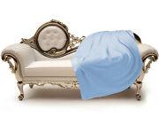 Luxe Oh` Dor 100 Cashmere Cover Plaid 6 Thread Light Blue 86 5/8x86 5/8in