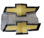 Gold Grille And Rear Emblem Badge Bowtie For 2016-2019 Chevy Chevrolet Camaro