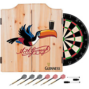 Trademark Gameroom Guinness Dart Cabinet Set With Darts And Board - Toucan