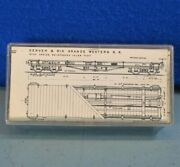 Tomalco Sn3 Scale Dandrgw 6700-series Idler Flat Car Wood Kit - Unassembled In Box