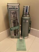Vintage Aladdin Stanley One Quart Thermos A944dh Vacuum Bottle Made In Usa W/box